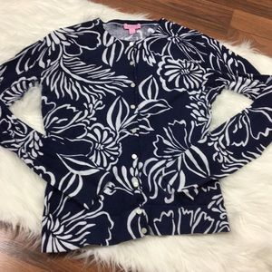 Lilly Pulitzer floral print cardigan sweater
